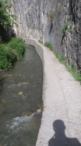 Crystal clear river in Los Cahorros, Monachil, Granada