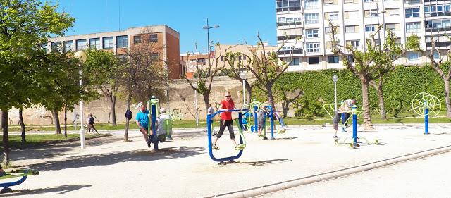 Exercise Park In Granada, Spain