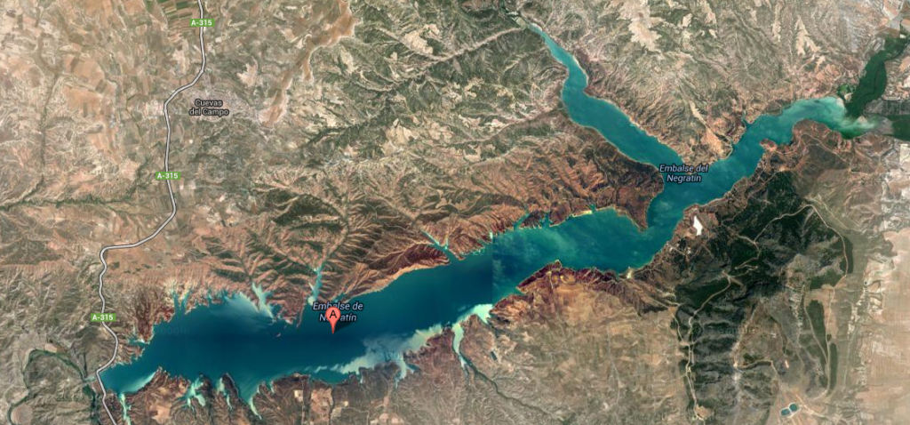 Lake Negratin From Satellite