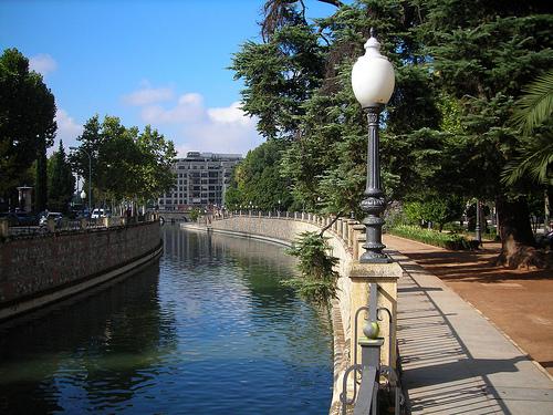 The path along the River Genil In Granada